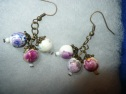dangle earrings chinese porcelain