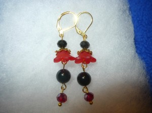 dangle earrings flowers in bloom sophia