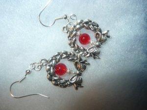 dangle earrings wreath